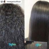 Si vous voulez arrêter le défrisage  et soigner vos cheveux tout en  continuant à faciliter une coiffure lisse parfaite et le contrôle du frisotis, nous vous conseillons le lissage brésilien de KerarganiC : Sans formol ni parabens . .  #Repost @kerarganicofficial  . . #keratine #soincapillaire #cheveux #stylist #saloncoiffure #lissagebresilien